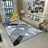 SunYe Modernes Minimalistisches Wohnzimmer Polyester Rutschfester Teppich Schlafzimmer Verdickte Doppelmatten Hotel Büro Fuß