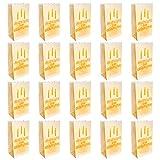 Kurtzy Lichttüten (20 Stück) - Alles Gute Zum Geburtstag Papiertüten - Happy Birthday Candle Bags - Party Dekorative Kerze Taschen Laternen für LED Teelichter Kerzen Tisch Mittelstück Dekoration