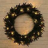 Zuhause LED Licht Weihnachtskranz Baum Tür Wandbehang Party Girlande Dekorationen (Color : 40cm)