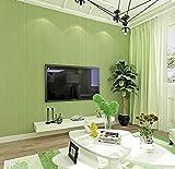 Tapete Streifen Minimalistische Vliestapete Gras-Grün Klassisch Geprägte Tapetenrolle für Flur Wände Modern Wohnzimmer, Schlafzimmer,Wände,0.53m x 9.5m