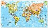 Riesige Weltkarte - Politischen Weltkartenposter - Laminiert - 84 x 59 cm - Maps International