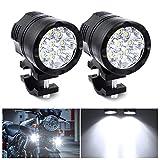 Biqing Universal 90 W Motorrad Scheinwerfer LED Scheinwerfer 9 LEDs Motorrad Fahren Nebelscheinwerfer Zusatzlampe Tagfahrlicht 12 V 24 V 7500 lm