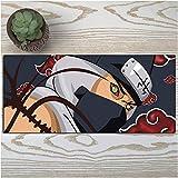 Gaming Mauspad Groß Tischunterlage Große Gaming Mouse Pad Naruto Tastatur Mat Erweiterte japanischen Anime 900 * 400 * 3mm Übergröße for Home Office-A_900*400 * 3MM
