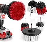 M&A QUALITY® 6er Set Bürstenaufsatz Bohrmaschine - weiche & harte Reinigungsbürsten für alle Oberflächen – extra leichte Reinigung - Drill Brush - Bürstenaufsatz Akkuschrauber