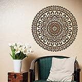 Mandala Wandtattoo Yoga Studio Vinyl Aufkleber-Mandala Aufkleber Marokkanisches Muster Böhmische Wohnkultur Wandaufkleber A3 42x42CM