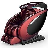 QQ HAO 3D-Null-Gravity-Massagestuhl, Ganzkörper-Shiatsu-Recliner, Multifunktionales Sofa,Rot