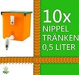 agrarking.de 10x Kaninchentränke Nippeltränke 0,5 Liter Nagertränke Kunststoff-Halterung