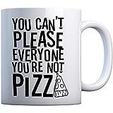 Becher Sie sind nicht Pizza-große perlenweiße Geschenk-Tasse