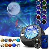 SOLMORE LED Sternenhimmel Projektor, Planeten Projektor Sternenlicht Projektor, 10 Planetenprojektionen, LED Einschlafhilfe Lampe mit Fernbedienung/Bluetooth Musikspieler für Kinder Erwachsene