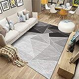 Teppich kinderzimmerteppich mädchen Schwarze graue Geometrielinie Einfaches Design Wohnzimmer mit Teppich mobel fur Wohnzimmer Spiel Teppich Junge 60*90cm