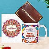 TIED RIBBONS Raksha Bandhan Rakhi Faden – Geschenk für Bruder Rakhi Kaffeetasse mit Wunschkarte