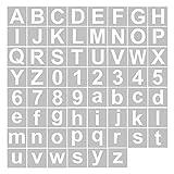 Aibecy Schablonen, Buchstaben und Zahlenschablonen Wiederverwendbare waschbare Alphabet-Schablonen Umweltfreundliche PET-Kunsthandwerksvorlagen zum Malen auf Holzgewebe Wandtür Dekor Home Sig