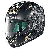 X-lite X-802RR Cafe Club Integralhelm Motorrad Verbundfaser - matt schwarz Gold Größe XL