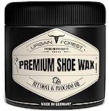Schuhcreme Schuhwachs für Leder, farblos mit Bienenwachs & Avocado-Öl   professionelle Schuhpflege & Lederpflege   Schuhreinigung & Schuhe pflegen mit Premium Shoe Wax von URBAN Forest 250 ml