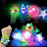 XTBL Kinder LED Flash Light Armband Blinkleucht Armbänder für Kinder Geburtstag Party Disco Hallowen Weihnachten Light Fash Toys Handgelenk (LED Blinkleucht Leuchten Armbänder)