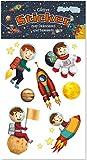 Glitter-Sticker * Astronaut & Rakete * von Lutz Mauder | 72340 | als Mitgebsel für Kinder | Weltraum Aufkleber zum Kindergeburtstag & Basteln