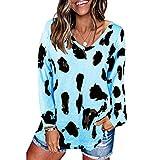 SLYZ Europäische Und Amerikanische Damen Entspringen Einem Neuen Leopardenmuster Personalisierter, Lockerer T-Shirt-Bluse Mit Kurzen Ärmeln