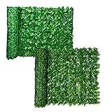 Kacniohen Künstliche Hecke Privatsphäre Zaun Bildschirm, getönte Wand, Privacy Screen für Garten Hinterhof-Patio Deck Balkon Dekoration Green Leaf 0,5 x 3M