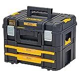 Dewalt DWST83395-1 Werkzeugbox Combo (21,6l Volumen, Kombination aus TSTAK II und IV, sichere Verwahrung von Elektrowerkzeugen und Handwerkzeugen, IP54), Black and yellow