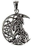 Kiss of Leather Anhänger Wolf im Mond aus 925 Sterling Silber Nr. 354