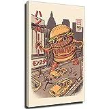 mocarrie Burgerzilla Rahmen-Stil, 60 x 90 cm