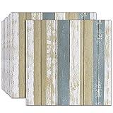 3d Tapete Selbstklebend Wandpaneele Ziegeltapete Wand Holzmaserung Dekoration Schaumstoff wasserdicht Kann geschrubbt werden Für Badezimmer KüChen Wohnzimmer 70 X 70 Cm(1110pcs)