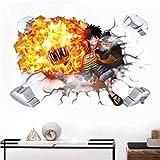 AINSS 60X90CM One Piece Wandaufkleber Ruffy Sanji Poster Zoro Nami Ace Tapetenaufkleber Abnehmbare dekorative Aufkleber Wandtattoo Schlafzimmer Wandtattoo Kinderzimmer Wandtattoo Wohnzimmer
