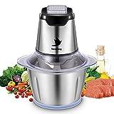 Nestling Universal Universalzerkleinerer 1.2L elektrisch Glasbehälter Küchenmaschine Zwiebelschneider Mixer,Küchenhelfer für Gemüse,600W Multi-Zerkleinerer für Fleisch,Gemü