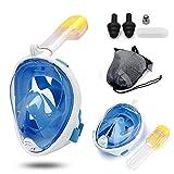 LEUCOTHEA Neue Schnorchelmaske 180 Grad Panoramablick Vollgesichtsmaske mit Abnehmbarer Kamerahalterung und Ohrstecker - Schnorchel-Schwimmmaske für Erwachsene und Kinder
