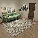 Teppiche Wohnzimmer Dekoration Leicht zu reinigender schwarzer Teppich mit geometrischem Design teppichläufer waschbar Teppich küche waschbar rutschfest 160X230CM