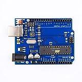 TEXASDELUXE Power Development Board Base on Arduino UNO R3 ATmega328P ATMEGA16U2 Compatible with Arduino