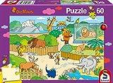 Schmidt Spiele Puzzle 56349 Im Zoo, Die Maus, Kinderpuzzle, 60 Teile, bunt