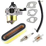 OxoxO Ersatz für Vergaser-Luftfilter, Zündkerze, Kraftstofffilter-Set für Honda GXV120 GXV140 GXV160 Motoren HR194 HR195 HR214 HRA214 HR215 HR216 HRA216 HRC216 Rasenmäher.