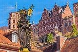 Heidelberg Statue Deutschland Puzzle für Erwachsene hölzernes Reisegeschenk Souvenir , 1000 Stück