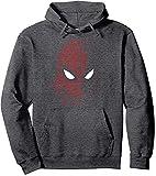 Amacigana Marvel Spider Man Far from Home Tech Build Up Fill Portrait Hoodie (Grau,XXL)