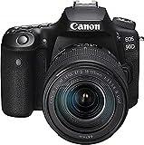 Canon EOS 90D Spiegelreflexkamera - mit Objektiv EF-S 18-135mm F3.5-5.6 IS USM (32,5 MP, 7,7 cm (3 Zoll) Vari-Angle Touch LCD, APS-C Sensor, 4K, Full-HD, WLAN, Bluetooth), schwarz