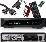 Opticum SBOX HDTV Sat Receiver, Mediaplayer, 1080P Full-HD Digital Mini TV-Receiver für Satelliten, HDMI, SCART, UNICABLE, COAXIAL, USB 2.0, DVB-S DVB-S2 12-Volt Anschluß, mit Anadol HDMI Kabel