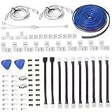 Glühend-Streifen-Stecker-Kit Lötlose RGB-Erweiterung 4-Pin-Steckverbinder Glühend-Streifen-Zubehör bietet die meisten Teile für DIY, Glühend-Streifen-Zubehör