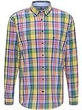 FYNCH-HATTON Herren Hemd Kariert - Softe Premium Baumwolle - Karohemd Langarm mit Button-Down Kragen als Business Casual und Trachtenhemd