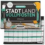 DENKRIESEN - Stadt Land VOLLPFOSTEN® - Job Edition 'Kaffeepause Kollegen   Wichtelgeschenk   Stadt Land Fluss   Spielblock