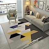 ZAZN Haushalt Teppich Moderne Minimalistische Wohnzimmer Couchtisch Schlafzimmer Sofa Haushaltsdecke Studie Bodenmatte rutschfest Verschleißfest Waschb
