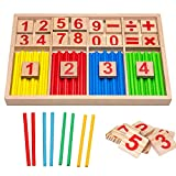 BEIST Mathematisches Spielzeug, Math Toys Wood, Arithmetic Learning Science Kits Vorschule