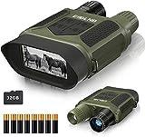 ESSLNB Nachtsichtgerät 7X Vergrößerung mit 8 AA Batterien und 32GB Karte 4' LCD Bildschirm 1300 ft/400m Reichweite