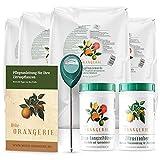 Meine Orangerie Zitrus-Pflegepaket Grande: Beste Zitruserde + starker Zitrusdünger + nützlicher Feuchtigkeitsmesser + hilfreiche Pflegebroschüre