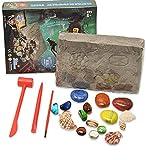 Kristall Edelstein Dig Kit, Archäologische Ausgrabung Spielzeug Set, Bergbau Kristall Pirate Schatz E