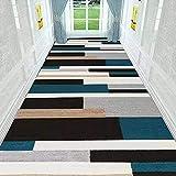 Teppichläufer, Rutschfester waschbarer bunter Langer Vintage Küchenläufer Teppichläufer Polyester by The Meter, geeignet für Flurküchenschlafzimmer