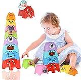 Herefun Stapelbecher Baby, Montessori Sortier Stapel Spiel, Stapelturm Baby Stapel Steckspielzeug, Stapel Tasse Spielzeug Stapelspiel Pädagogisches, Baby Spielzeug Geburtstagsgeschenk ab 6 Monaten