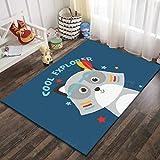SunYe 7D Gedruckte Teppich Kinderzimmer Kriechen Cartoon Fußmatten Schlafzimmer Couchtisch Voller Großer Teppich rutschfest Verschleiß