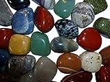 Jumbo Edelsteine – 1kg – Naturedelsteine 4-5cm groß – 20 bis 24 Steine pro Kilo – bunte Mischung von Amahoff