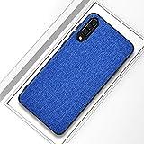 Xiaomi Fälle Stoßfest Tuch textur pc + TPU schutzhülle for xiaomi mi 9 (dunkelblau) Xiaomi Fälle (Farbe : Dark Blue)
